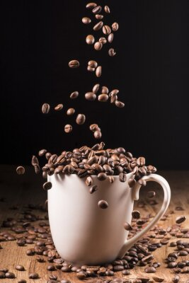 Poster chicchi di caffè