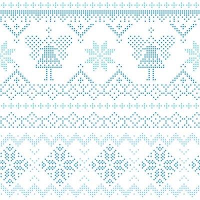 Poster Christmas Scandinavian Card - for invitation, wallpaper
