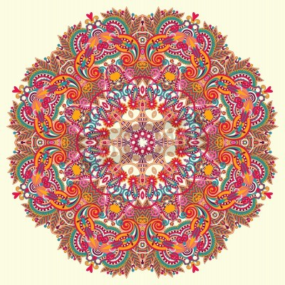 Poster Circle ornament, ornamental round lace
