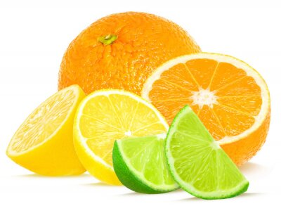 Poster citrus isolated