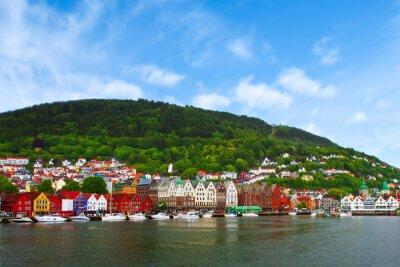 Poster city of Bergen,  Norway