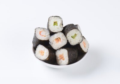 Poster Classic sushi rolls