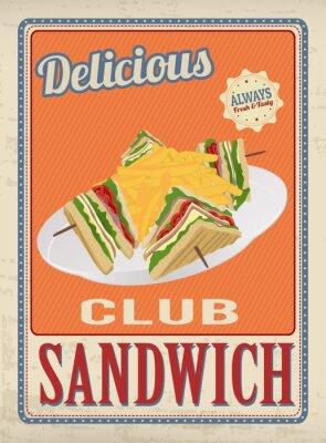 Poster Club Sandwich retro poster