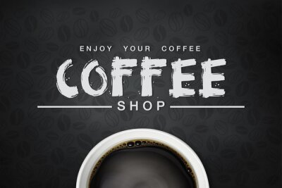 Poster coffee backgrond