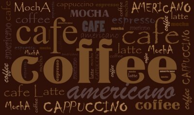 Poster Coffee background