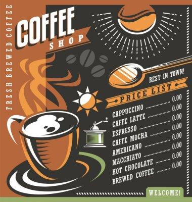 Poster Coffee house menu creative template