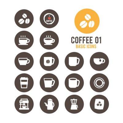 Poster Coffee icon set. Vector illustration.