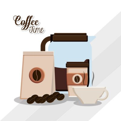 Poster Coffee time design