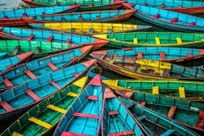 Poster Colorful boats