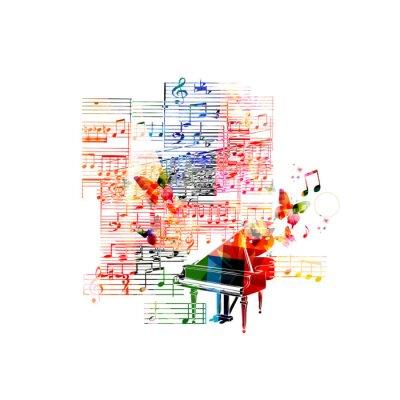 Poster Colorful piano design