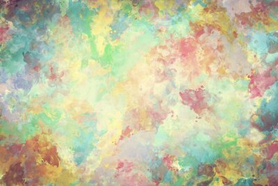 Poster Colorful watercolor paint on canvas. Super high resolution and quality background