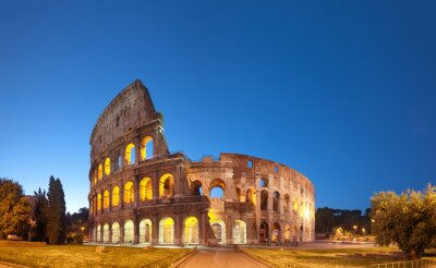 Poster Colosseum at night .Rome - Italy