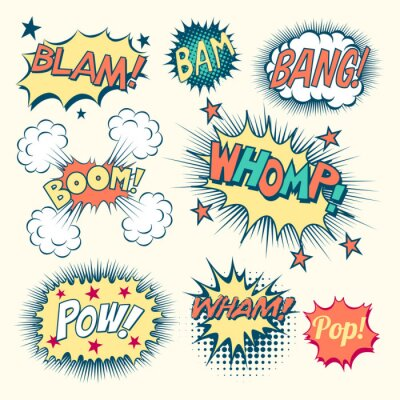 Poster Comic Book Sound Effects