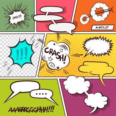 Poster Comic Speech Bubbles