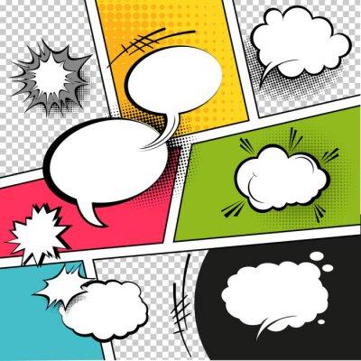 Poster Comic Strip Speech Bubbles