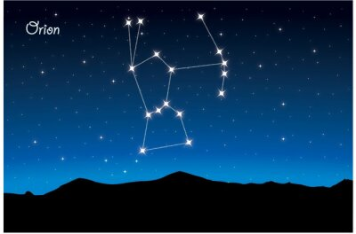 Poster Constellation Orion