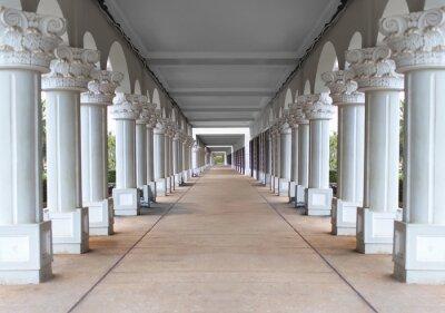 Poster corridor with columns
