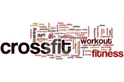 Poster Crossfit word cloud