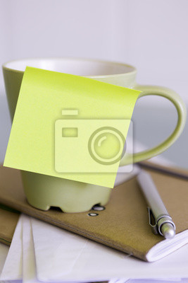Poster cup and a post-it