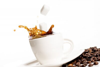 Poster Cup of coffee splash