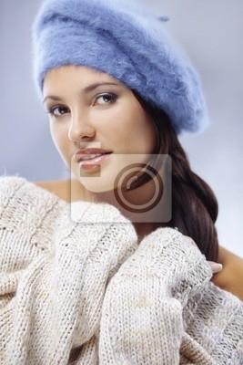 Cute woman close-up