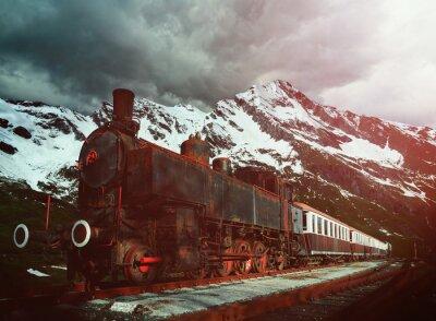 Poster Dampflokomotive