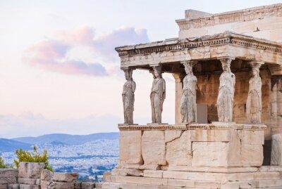 Poster Detail of Erechtheion in Acropolis of Athens, Greece