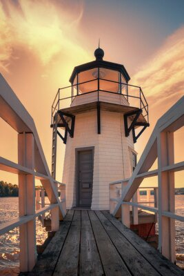 Poster Doubling Point Lighthouse in Maine, USA