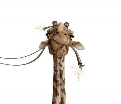 Poster drawing of a giraffe