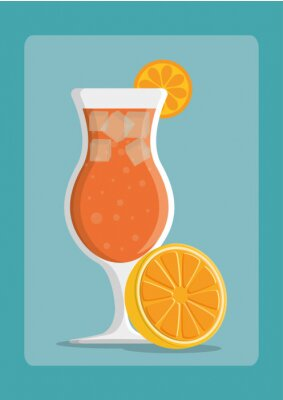 Poster Drinks icon design