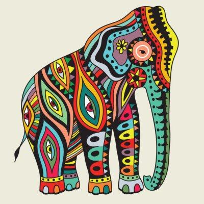 Poster Elefant. Vector illustration