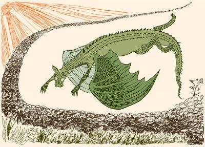 Poster Fantastic dragon has arrived