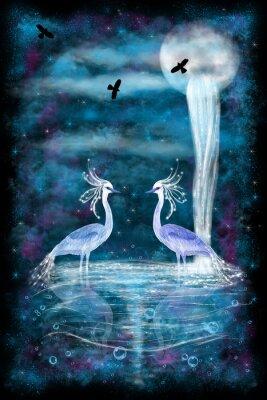Poster Fantasy two herons
