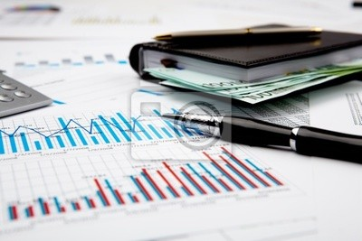 Poster financial charts and graphs