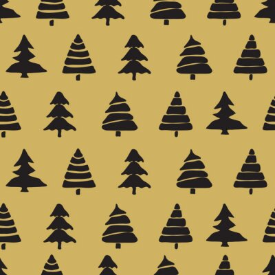 Poster Fir tree seamless pattern