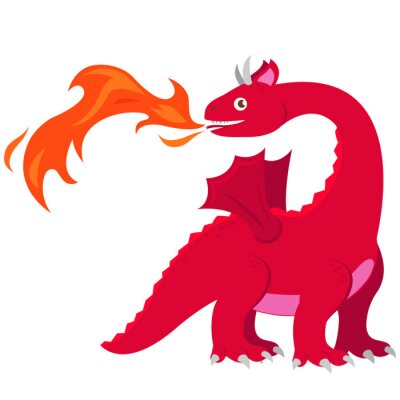 Poster Fire breathing dragon