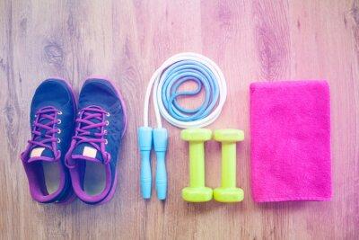 Poster fitness equipment