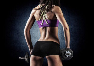 Poster Fitness sporty woman in training