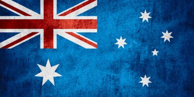 Poster flag of Australia