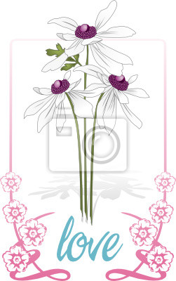 Floral card / poster template