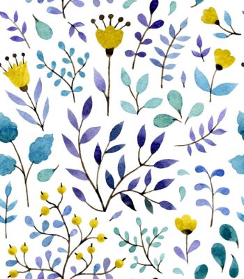 Poster floral pattern
