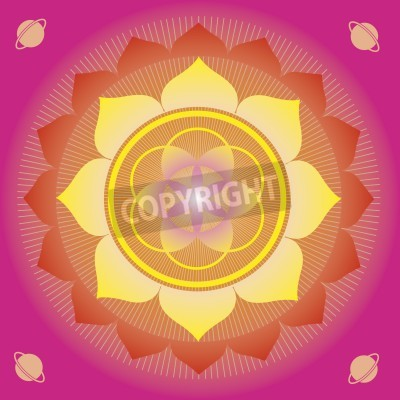 Poster flower elements and mandalas with esoteric sense for yoga practice and design for health and wellbeing
