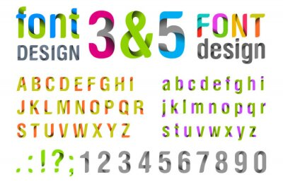 Poster Font design. Ribbon Alphabet. vector.