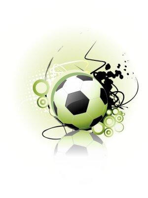 Poster Football vector art