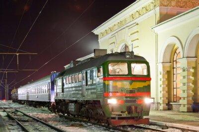 Poster Freight-passenger diesel train