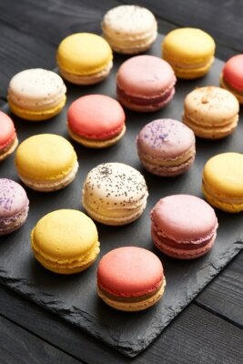Poster French delicious dessert macaroons