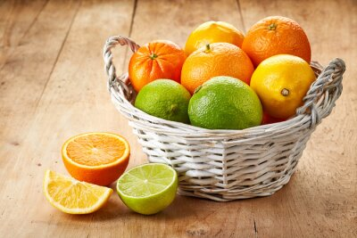Poster Fresh citrus fruits