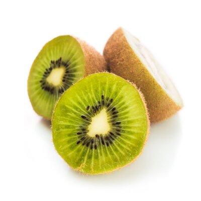 Poster Fresh green kiwi isolated