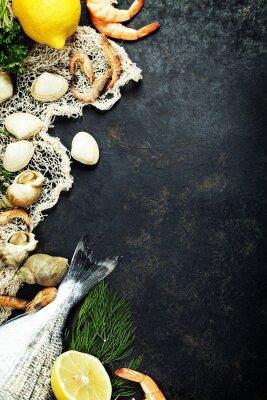 Poster Fresh seafood