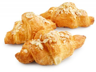 Poster Fresh sweet croissants